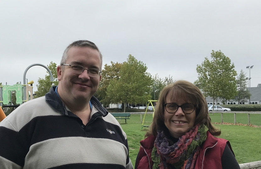Cllr Hiscott and I in Horfield